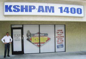 Gig Schmidt at KSHP Radio 1400 AM, June 27, 2015