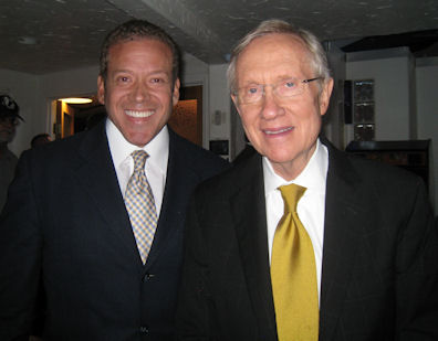 Gig Schmidt and US Senator from Nevada Harry Reid, Arts Factory in the Arts District, Sept 3, 2010