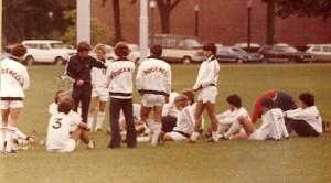 Bucknell Soccer, Halftime, Fall 1979
