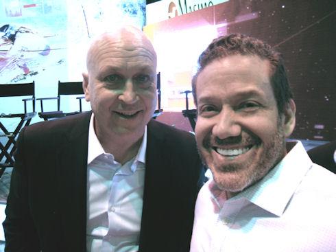 Cal Ripkin Jr and Gig Schmidt, CES 2015, Sands Convention Center, January 7, 2015
