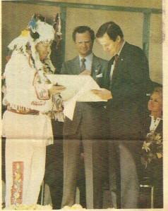 Dad, King of Sweden & NJ Governor Tom Kean, April 14, 1988