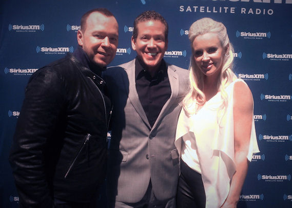 Donnie Wahlberg, Gig Schmidt and Jenny McCarthy, CES 2016, January 7, 2016