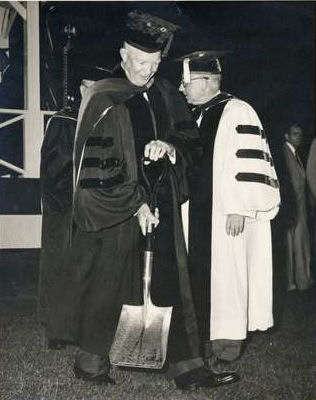 Dwight Eisenhower at American University, 1957