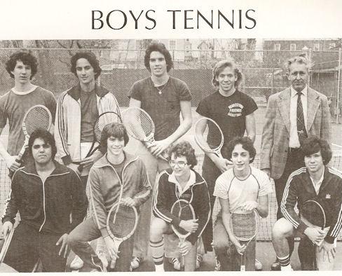 Gig Schmidt, MFS Varsity Tennis, 1979