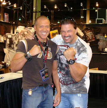 Gig Schmidt and Al Snow 6 1 235 45 Former WWE Wrestler, UFC Expo, Mandalay Bay July 10 2009