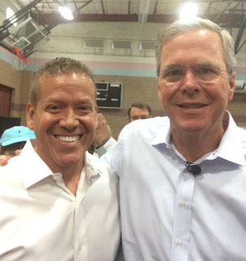 Gig Schmidt and Florida Governor Jeb Bush (R), Henderson, NV, June 27, 2015