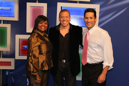 Gig Schmidt and Fox 5 TV Anchors Monica Jackson and Jason Feinberg Feb 19, 2010
