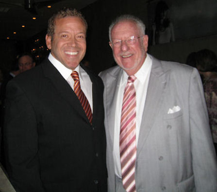 Gig Schmidt and Las Vegas Mayor Oscar Goodman, Downtown Fremont Street, Sept 29, 2010 cropped