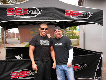Gig Schmidt and Radio DJ Spence 98.5 FM KLUC Las Vegas May 24, 2008 got tix to closed circuit ufc event for that night