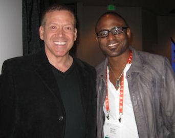 Gig Schmidt and Wayne Brady, CES 2012, LV Convention Center, Jan 11, 2012