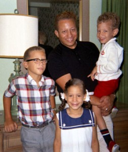 Gig Schmidt, his father, brother and sister, 1960's