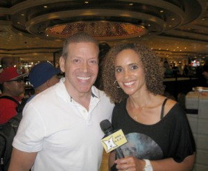 Karyn, Bryant, UFC Commentator and TV Show Host and Gig Schmidt, UFC 162 Press Conference, MGM, July 4, 20