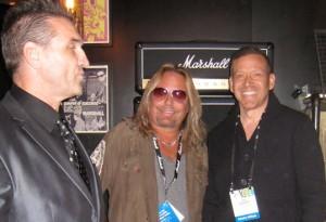 Ken Shamrock, Vince Neil of Motley Crew, Gig Schmidt, CES 2014, Las Vegas Convention Center, January 8, 2014