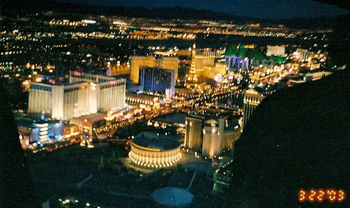 Las Vegas Strip, returning from Grand Canyon Tour, March 22, 2003