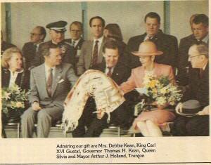 Mrs Kean, King of Sweden, NJ Governor Tom Kean, Queen of Sweden & Trenton NJ Mayor, April 14, 1988