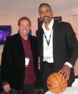 Rick Fox with Gig Schmidt, CES LV Convention Center, Jan 7, 2011