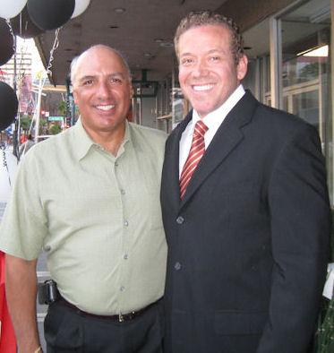 Stavros S Anthony Ph.D, Las Vegas Councilman Ward 4, and Gig Schmidt, Downtown Fremont St, Sept 29, 2010