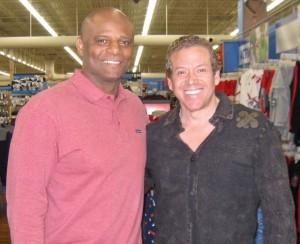 Warren Moon, Gig Schmidt, Wal-Mart, Las Vegas, Nov 10, 2010 cropped