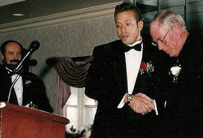 Gig Schmidt, 1995 Southern New Jersey Soccer Hall of Fame Induction Ceremony, Pre Speech, The Woodbine Inn, Pennsauken, NJ, Nov 19, 1995