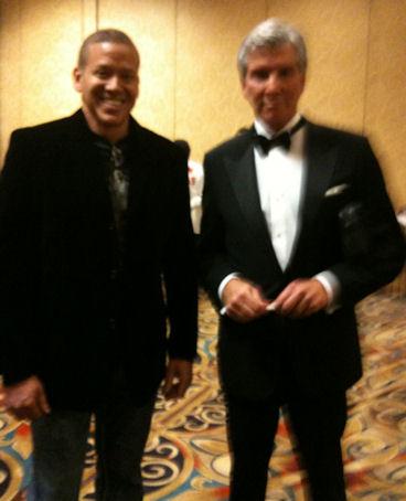 Gig Schmidt and Michael Buffer, Top Rank Presents World Championship Boxong, LV Hilton Feb 13, 2010