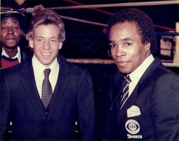 Gig Schmidt and Sugar Ray Leonard, Atlantic City, NJ, Approx 1982