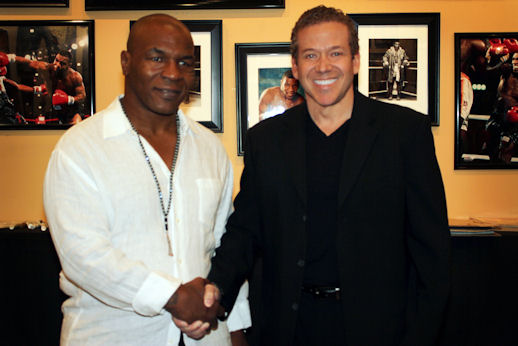 Mike Tyson and Gig Schmidt, Planet Hollywood, Oct 16, 2010