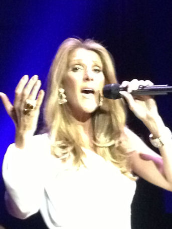 Celine Dion close up posing for picture Caesars Colosseum June 9, 2013