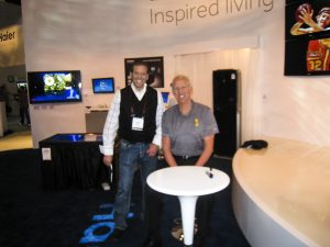 Gig Schmidt and Bill Walton, CES, January 6, 2011