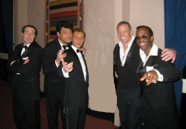 Gig Schmidt and members of The Rat Pack show, Sahara, January 12, 2010