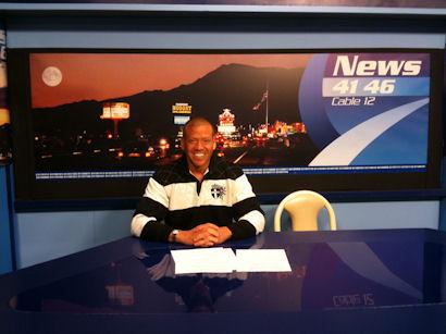 Gig Schmidt, TV Commercial, News Desk, KPVM-TV Pahrump NV March 31, 2010