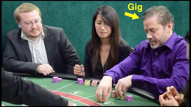 Gig Schmidt actor in baccarat video, January 8, 2015 -3