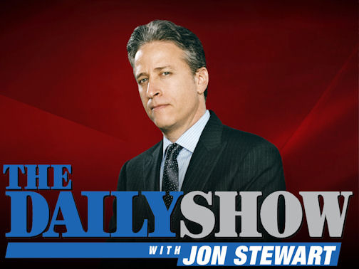 Gig Schmidt background actor on The Daily Show with Jon Stewart
