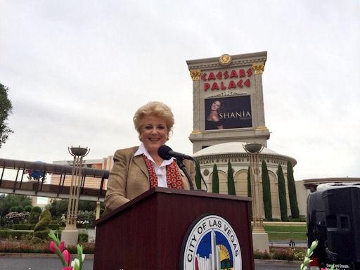 - Las Vegas Mayor Carolyn Goodman, Hell's Kitchen shoot, Caesars Palace, Oct 7, 2014
